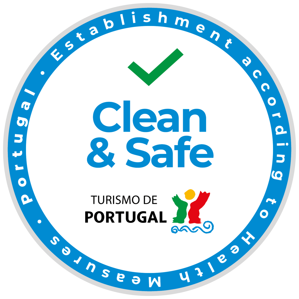 Clean and safe stamp logo